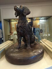 The presidential museum includes a space devoted to the Bush family pets.