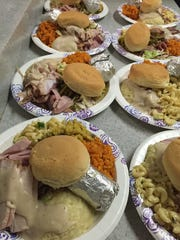 A sample of the plates served by the Nice Birdie Golf Club Dec. 19 at Kamalen Karidat, a soup kitchen for the homeless.