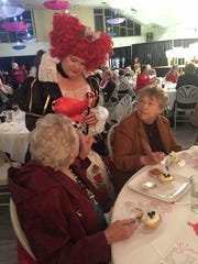 """""""Queen of Hearts"""" Carol Tadej visits with audience"""