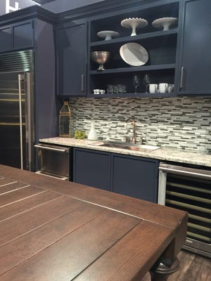 The top cabinet color at KBIS? A dark, moody blue.