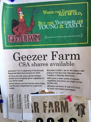 Ad for a Geezer Farm CSA share.