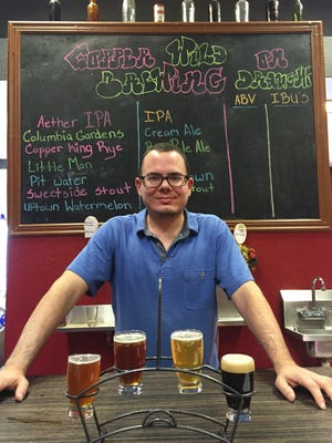 Christopher and Elizabeth Graves bought Trimbo's Pizza and established the nanobrewery, CopperWild, in a corner.
