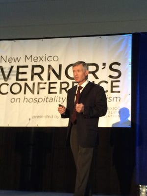 Scott Cassidy, retired from Disney Parks and Resorts, speaks to attendees at  the 2016 Governors Conference on Tourism at the Las Cruces Convention Center Wednesday. Roughly 350 tourism industry leaders converged on the city to share ideas on promoting New Mexico.