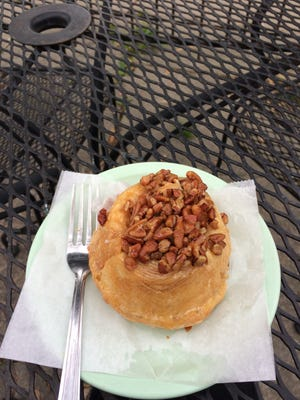A sticky bun from Deluxe Cakes and Pastries on May 20, 2016.
