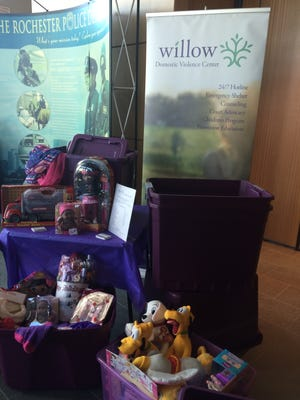 Willow Domestic Violence Center and police agencies in Monroe County team up to collect gifts for children whose families are affected by domestic violence.