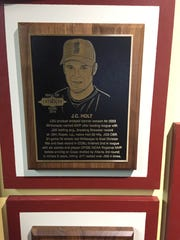 Holt's plaque at the Cape Cob Hall of Fame.
