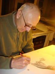 Havre artist Don Greytak sketches scenes of rural Montana.