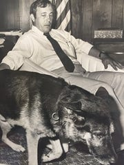 Dog handler John Preston, the state's key witness against Gary Bennett, Juan Ramos, William Dillon and Wilton Dedge. He was later proven to be a fraud.