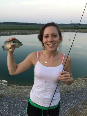 Sarah Garth at her favorite fishing spot.