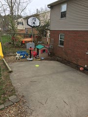 This is the backyard court on Carini Lane in Greenhills