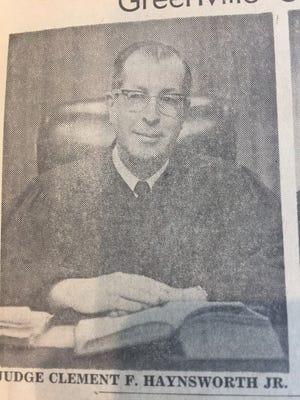 Judge Clement Haynsworth Jr.