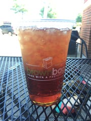 Sweet tea at Brown Bag in Franklin.