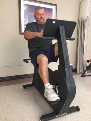 Robby Hecker can now ride a bicycle, bowl and play tennis again, thanks to a partial knee replacement.