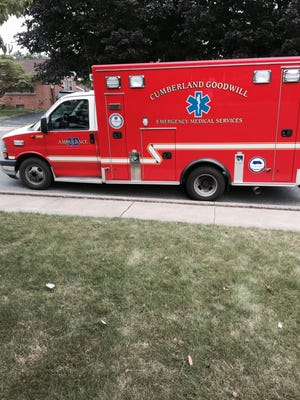 An ambulance arrived on the scene of columnist Andy Sandrik's latest run with his 4-year-old son, Paxton, and dog, Bowie.