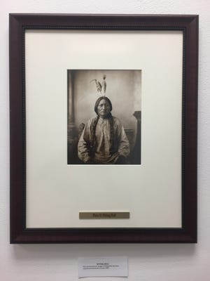 A photo of Chief Sitting Bull from a Cathedral City photo exhibition.