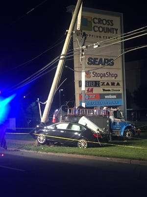 Joseph Fragano Jr. of White Plains died after his car crashed into a utility pole on Central Park Avenue in Yonkers Tuesday, Aug. 8, 2017.