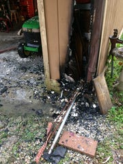 A Tuesday morning fire damaged the garage of a Walnut Lane home.