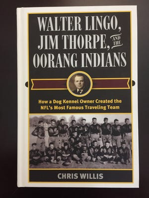 """NFL historian Chris Willis recently wrote the book """"Walter Lingo, Jim Thorpe and the Oorang Indians"""" about the long ago LaRue-based NFL franchise."""