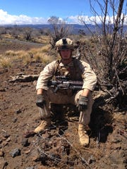 Kyle Boyd during his active duty time with the Marines.