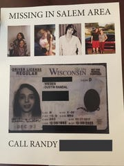 Randy Wieber uses a copy of his son's driver's license