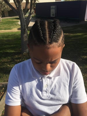 Nasir Anderson was sent home from Teleos Preparatory Academy on picture day, Jan. 31, 2018, for wearing braids.