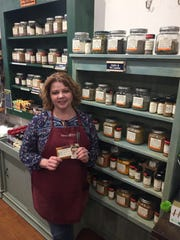 Hollie Rollins, owner of Savory Spice in Franklin,