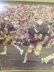 David Mitchell played with Joe Montana at Notre Dame.