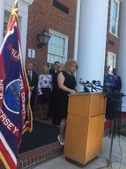 Burlington County Freeholder Director Kate Gibbs speaks