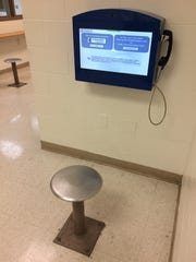 Five video visitation kiosks are used in the Wayne County Jail.