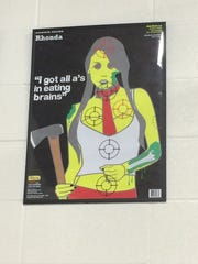 Framed target posters and signs giving safety tips