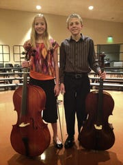 Olivia and Timothy Jenks after an orchestra concert