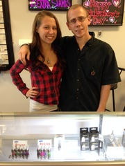 April Mersinger and Andrew Shimp own Vapormaker in the Nicholas Retail Center at 290 Nicholas Parkway, just north of Pine Island Road. Their shop is one of the newer retailers to move into the plaza that has been mostly vacant for several years.