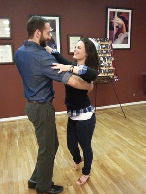 Sean Mulhern and Elizabeth Malady practice their moves at Classic Ballroom in Hackettstown.