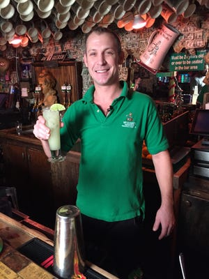 Travis Hurd of McGuire's Irish Pub with his Avajito.