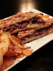 Charred Rib Eye Panini featured at The Mill Restaurant