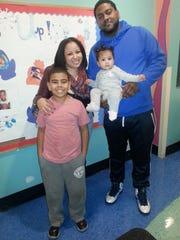 """Erica Maldonado Rios and her family, Anthony """"AJ"""" Rios"""