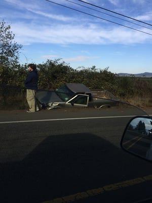 Vehicle involved in Dallas crash.