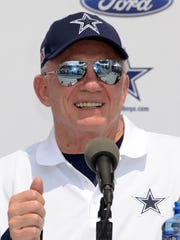 Dallas Cowboys owner Jerry Jones at press conference