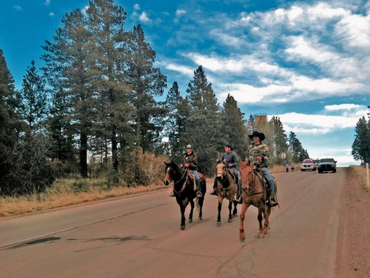 Portions of the Blessing Run required riders on horseback for rough and steep terrain.