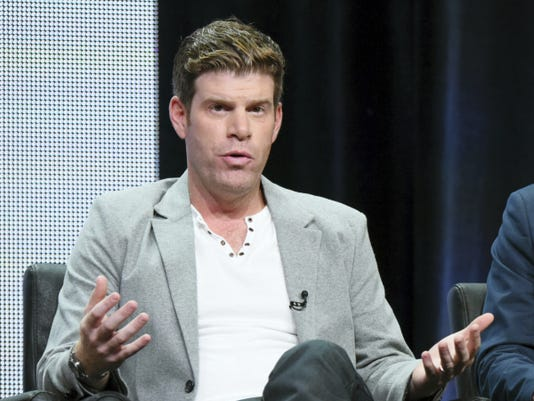 "FILE - In this Aug. 7, 2015, file photo, Steve Rannazzisi participates in ""The League"" panel at the FX Summer TCA Tour at the Beverly Hilton Hotel in Beverly Hills, Calif. The Buffalo Wild Wings company said in a statement Thursday, Sept. 17, it will stop airing TV commercials featuring comedian Steve Rannazzisi, who said that he lied about being in the World Trade Center during the Sept. 11 attacks. (Photo by Richard Shotwell/Invision/AP, File)"