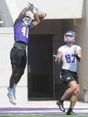 ACU's Alex Lofton (41) breaks up a pass intended for