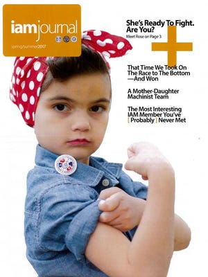Isabella Rose Alviar, 7, is featured on the cover of the IAM journal.