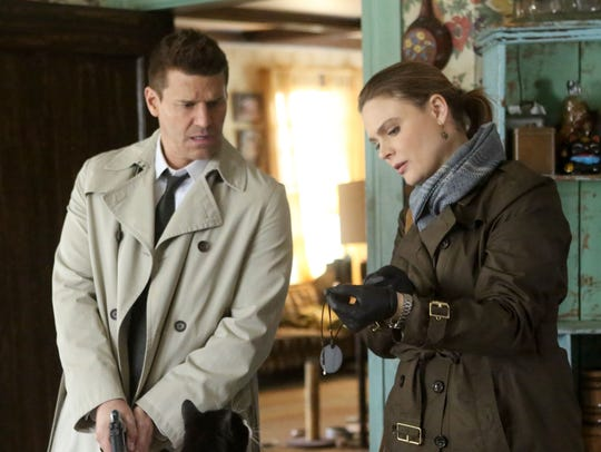 Booth (David Boreanaz) and Brennan (Emily Deschancel) had a successful professional and personal relationship on Fox's 'Bones.'