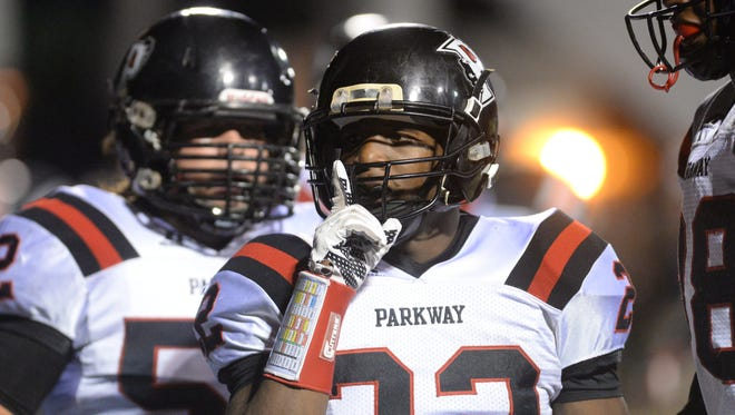 Parkway's Robert McKnight accounted for four touchdowns on Friday.