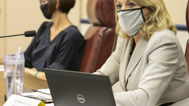 Superintendent of Schools Diane Gullett on Thursday recommended that the school district implement a face covering mandate for all employees, students and visitors. The School Board agreed, effective Friday.