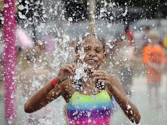 Ava's Splash Pad in Mt. Juliet is a popular place to cool off from the summer heat.