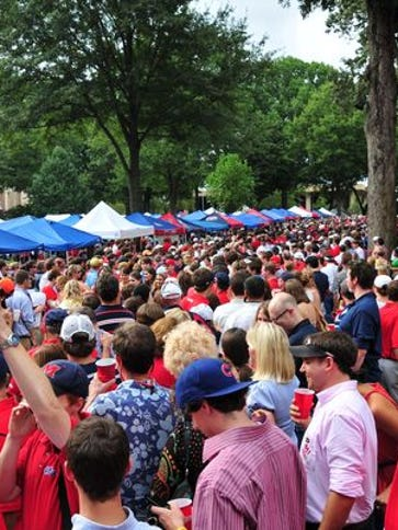 Ole Miss' Grove is filled with Rebels fans each game