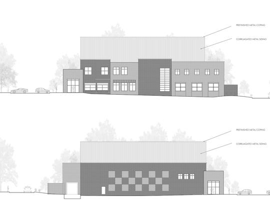 Rendering shows how much the roof will be raised at 879 E. McLemore to install climbing facilities.