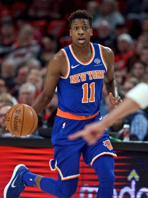 Frank Ntilikina got his first career start for the Knicks on Tuesday night against the Portland Trail Blazers.