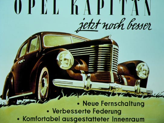 Opel advertisement from 1940s